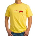 I Love Tow Trucks Yellow T-Shirt