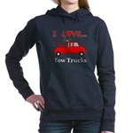 I Love Tow Trucks Women's Hooded Sweatshirt