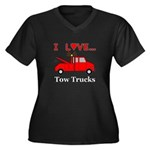 I Love Tow T Women's Plus Size V-Neck Dark T-Shirt