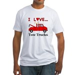 I Love Tow Trucks Fitted T-Shirt