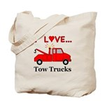 I Love Tow Trucks Tote Bag