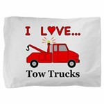 I Love Tow Trucks Pillow Sham