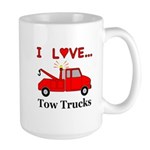 I Love Tow Trucks Large Mug
