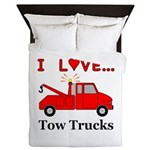 I Love Tow Trucks Queen Duvet