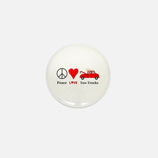 Peace Love Tow Trucks Mini Button