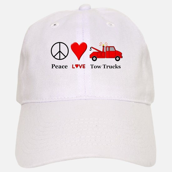 Peace Love Tow Trucks Baseball Baseball Cap