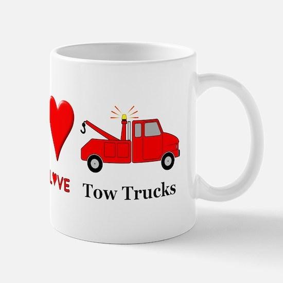 Peace Love Tow Trucks Mug