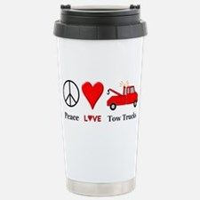 Peace Love Tow Trucks Stainless Steel Travel Mug