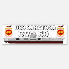 USS Saratoga CV-60 Bumper Bumper Bumper Sticker