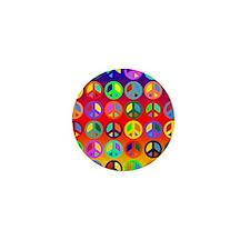 Peace Signs-colorful Mini Button