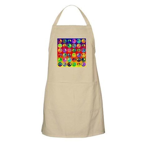 Peace Signs-colorful BBQ Apron