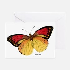 Red Yellow Butterfly Greeting Cards (Pk of 10)
