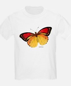Red Yellow Butterfly (Front) Kids T-Shirt