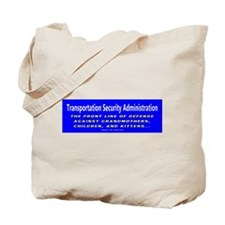 T.S.A. Front Line of Defense Tote Bag