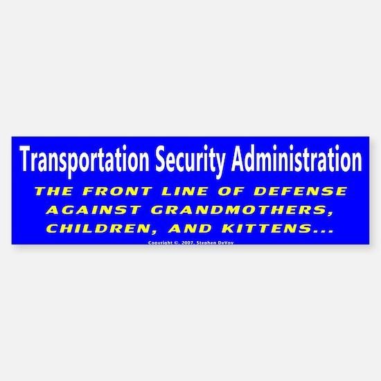 T.S.A. Front Line of Defense Bumper Bumper Bumper Sticker