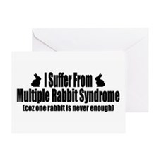 Multiple Rabbits Greeting Card