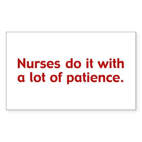 Funny Nurse Rectangle Sticker