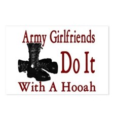 army girlfriend do it with a hooah Postcards (Pack