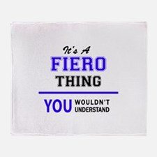 FIERO thing, you wouldn't understand Throw Blanket