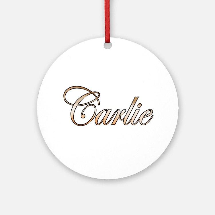 Cute Carlie Round Ornament