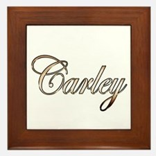 Cute Carley Framed Tile