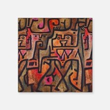 Paul Klee Abstract Red Contemporary Sticker