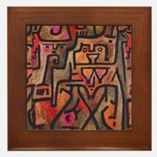 Paul Klee Abstract Red Contemporary Framed Tile