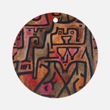 Paul Klee Abstract Red Contemporary Round Ornament