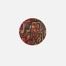 Paul Klee Abstract Red Contemporary Mini Button