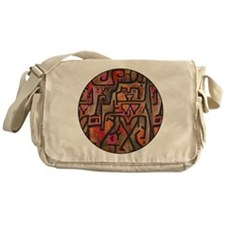 Paul Klee Red Nature Abstract Forest Messenger Bag