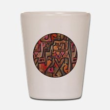Paul Klee Red Nature Abstract Forest Shot Glass