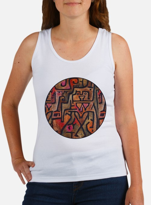 Paul Klee Red Nature Abstract Forest Tank Top