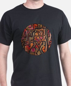 Paul Klee Red Nature Abstract Forest T-Shirt