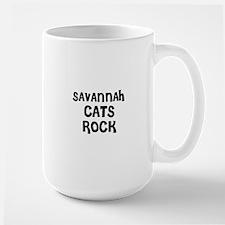 SAVANNAH CATS ROCK Mugs