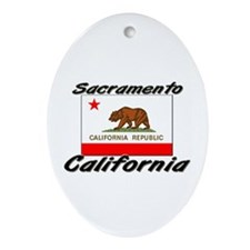 Sacramento California Oval Ornament