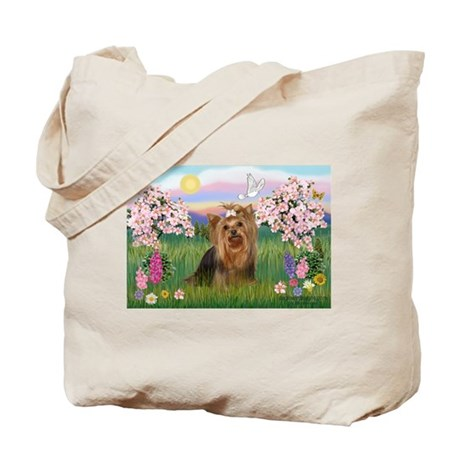 Blossoms & Yorkie 7 Tote Bag