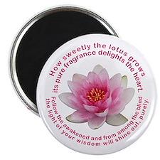 Buddha Lotus Flower Magnet