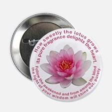 Buddha Lotus Flower Button