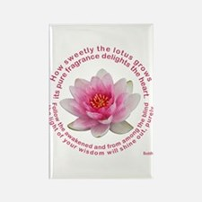 Buddha Lotus Flower Rectangle Magnet