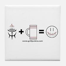 Grilling + Beer = Happy Tile Coaster