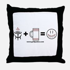 Grilling + Beer = Happy Throw Pillow