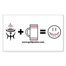 Grilling + Beer = Happy Decal