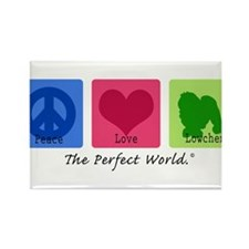 Peace Love Lowchen Magnets
