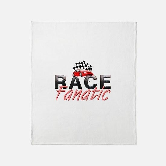 Auto Race Fanatic Throw Blanket