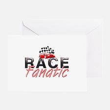 Auto Race Fanatic Greeting Card