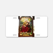 stained glass Jesus Aluminum License Plate