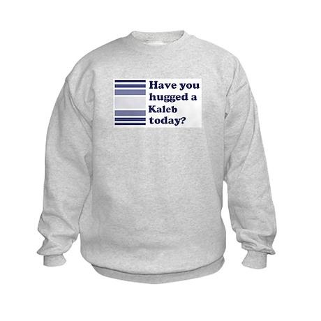 Hugged Kaleb Kids Sweatshirt