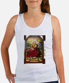 stained glass Jesus Tank Top