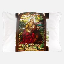 stained glass Jesus Pillow Case