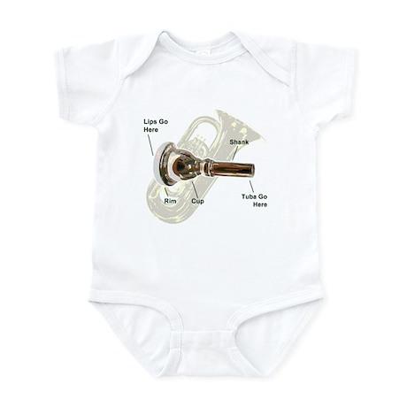 Tuba Go Here Infant Bodysuit
